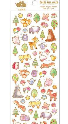Japanese Q-lia Foil Sticker - Puchi Kira Mark