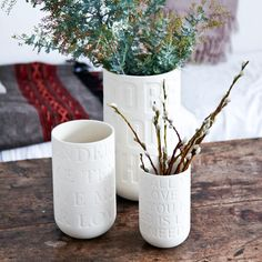 Unique Mother's Day gift: Lovesong vase, raw stoneware etched with lyrics of iconic love songs. To be featured on an upcoming episode of The Property Brothers. At shopkontrast.com. #propertybrothers