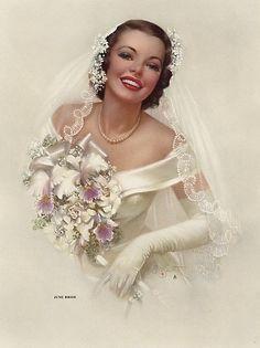 """Vintage bride - """"June Bride"""" Zoe Mozert"""