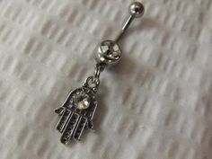 Hand of Hamsa Belly Ring Navel Ring by AGothShop on Etsy, $12.50