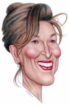 <3 Meryl Streep caricature