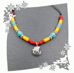 KOSTENLOSER VERSAND  Wikinger Halskette für Kinder Sterling Silber Wikinger Boot von BelanasSchatzkiste