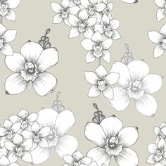 Orchid by Elona  laff Seamless Repeat Vector Royalty-Free Stock Pattern