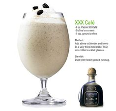 Patron coffee milkshake. I don't drink alcohol AT ALL, yet I find myself DYING to try this!