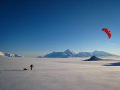 Snow Kiting in Alaska. #snowkiting