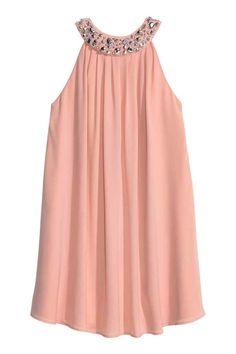 H&M - Beaded Dress - Powder pink - Ladies Best Prom Dresses, Short Dresses, Summer Dresses, Ladies Dresses, Jumpsuit Dress, Dress Skirt, Casual Dresses, Fashion Dresses, Look Fashion