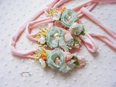 Your place to buy and sell all things handmade Floral Headbands, Newborn Headbands, Baby Staff, Disney Hair Bows, Diy Flower Crown, Newborn Tieback, Crazy Quilt Blocks, Baby Hair Clips, Boho Baby