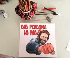Dio perdona, io no! #Bud Spencer #drawing #colours #pencils #art #passion #Italia #Italy #film