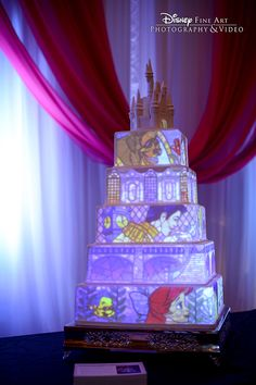 wedding cakes disney Bring your wedding cake to life with Disneys Fairy Tale Weddings cake mapping projection Themed Wedding Cakes, Wedding Themes, Our Wedding, Dream Wedding, Fantasy Wedding, Wedding Ideas, Disney Cakes, Disney Wedding Cakes, Disney Weddings