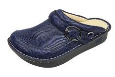 Alegria Seville In Blue Snakey Jake | Yengo.ca Professional Shoes, Alegria Shoes, Seville, Comfortable Shoes, Clogs, Footwear, Heels, Blue, Shopping