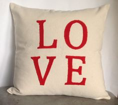 "Sale Love Pillow -18"" x18"" ,Wedding Gift, Monogrammed Cushion Cover 45cmx45cm, Anniversary Gift   #WhiteThrowPillow #PorchPillows #RecyclePolyester #BestPersonalized #NavyPillowFonts #12x20Pillows #StripesPillows #MetallicPillows #NeckRollInsert #CustomBolster"