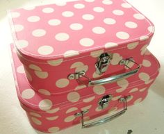 polka dot suitcases