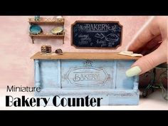 How To Mini Bakery Counter Tutorial + Shelves & Chalkboard DIY - YouTube