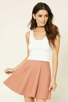 Stretch-Knit Flared Skirt | @giftryapp