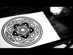 5 Circles In Harmony Mandala - with audio sounds of waves [How To] - YouTube