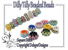 Dilly Tilly Beaded Beads Tila Beading Pattern by DebgerDesigns