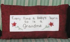 Every time a baby's born so is a Grandma  Hand by LaughRabbitJr, $18.00
