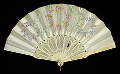 Fan Made Of Ivory, Silk, Mother-Of-Pearl And Metal - American c.1880-1889 The Metropolitan Museum Of Art