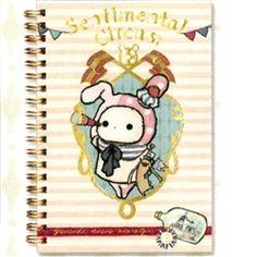 San-X Sentimental Circus Sailor B6 Hard Cover Spiral Notebook: Pink