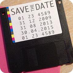 Save The Date, Diskette, Einladung Für Hochzeit, Individuell Designt By Die  Kartenfrau