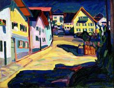 Wassily Kandinsky - Houses in Murnau, 1908