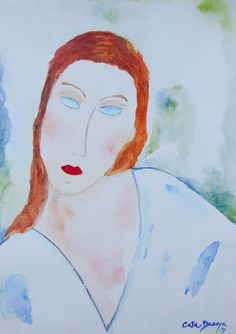 Watercolor Paint Frida 18 x 25 cm Solgt!