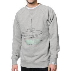 Local Legends Emerald City Grey Crew Neck Sweatshirt. Cool graphic. great color. comfy and trending