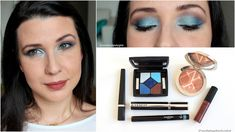 Makeup  Blue Azure and brown look [Monday Shadow Challenge]    (Défilez vers le bas pour le Français) Hello lovelies!! How are you today?! The spring break has begun and my parents arrive from Argentina in only two days! As they are going to stay home I am doing intensive spring cleaning and moving furniture from one room to the other to make everyone comfortable. If you want to follow my hectic household adventures and have a good laugh head to myInstagram Stories! The sun is high the sky…