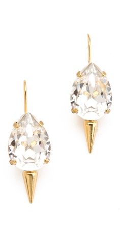 Classic + edgy Fallon Jewelry Classique Pear Micro Spike Earrings - still obsessed w/fallon Jewelry Accessories, Fashion Accessories, Jewelry Design, Fallon Jewelry, Studs And Spikes, Classic Handbags, Jewel Box, Diamond Are A Girls Best Friend, Bracelets