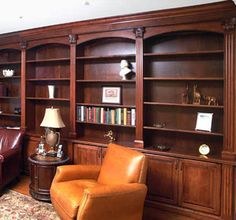 Home Library in Maple