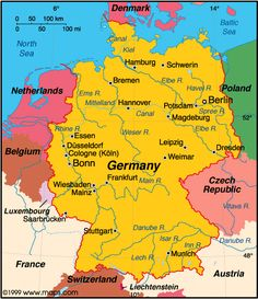 Map Of German Cities Google Search MAPS Pinterest City - Germany maps