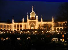 """Tivoli Gardens in Copenhagen is the most visited location in Denmark. It features a large number of ethnically """"inspired"""" buildings and restaurants."""