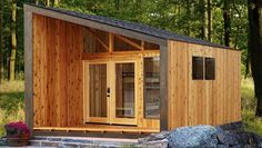 Slanted Roof Design The Wedge A New Cabin Design For State Parks Pitched Roof Pergola Designs Cabin Design, Roof Design, Tiny House Design, Tiny House Cabin, Tiny House Living, State Park Cabins, Park Model Homes, Pergola Carport, Architecture Student