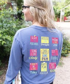 OMG! We are in love with our new Officethemed longsleeve shirt from the Jadelynn Brooke Choose Your Crew collection. Jadelynn Brooke knocked it out of the pa