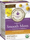 Smooth MoveTea is formulated to act as a stimulant laxative based on the traditional use of senna leaf for relief of occasional constipation. Smooth Move Tea Contains Senna leaf, as a laxative herbal tea ingredient has at least a one thousand year history of human use in traditional Arabian, Asian and European herbal medicines.