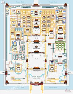 Map of the Forbidden City, China chinahighlights.com/city/beijing/the-forbidden-city-map.jpg
