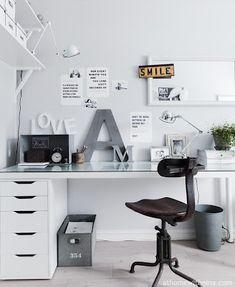 Black & white vintage office
