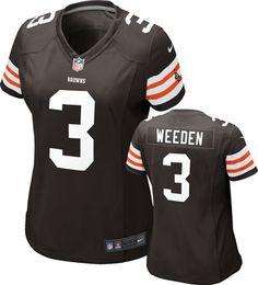 4872a046d Brandon Weeden Women's Jersey: Home Game Replica Brown #3 Nike Cleveland  Browns Jersey http
