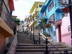 ECUADOR Subida a Cerro de Santa Ana, Guayaquil
