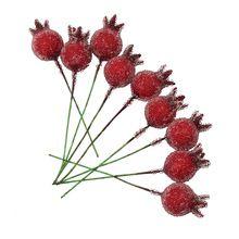 10 шт. мини гранат красного стекла фрукты искусственные тычинки для венок скрапбукинга свадебные украшения(China (Mainland))