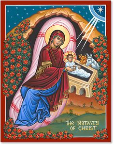 This special time of year look to Monastery Icons for Christmas Icons, including The Nativity of Christ icon. Religious Images, Religious Icons, Religious Art, Christian Images, Christian Art, Monastery Icons, Church Icon, Christmas Icons, Biblical Art