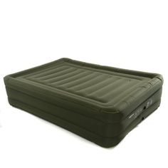 Smart Air Beds Raised Ultra Tough Inflatable Mattress with Rechargable Pump Bag and Patch Kit Green Queen >>> Read more reviews of the product by visiting the link on the image.