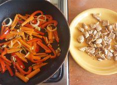 Smażony makaron po chińsku z jajkiem • origamifrog.pl Thai Red Curry, Ethnic Recipes, Food, Essen, Meals, Yemek, Eten
