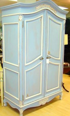 Craigslist Find - blue shabby chic armoire