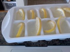 lemon ice cubes for the summer