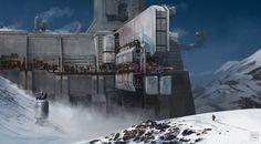 Snow Landscape by SBigham on DeviantArt Cyberpunk, Futuristic City, Futuristic Architecture, Landscape Concept, Fantasy Landscape, Environment Concept Art, Environment Design, Sci Fi Fantasy, Fantasy World