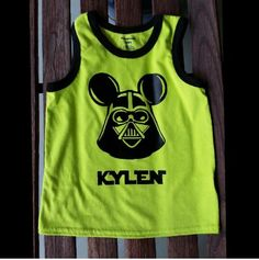 Custom order Star Wars Disney shirt with name.