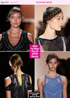 Braids aren't going anywhere! This fierce look was spotted at the Herve Leger Spring Summer 2016 Fashion Show at NYFW, but you can get the look right here, right now!