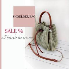 cd12f305f62e Crochet handbag Crossbody bag Handmade bag trendy bag bucket bag Casual bag  shoulder bag Purse for