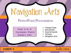 FREE Nicely done Navigation Acts PowerPoint. Includes worksheets good for notebooking with Landmark History (Boorstin) chapter 4.